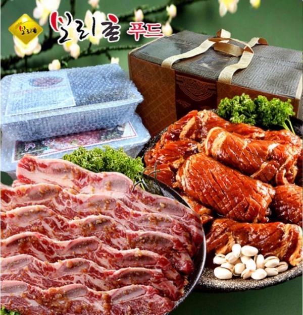 돼지갈비양념왕구이4.5kg+LA소갈비2.5kg 선물세트